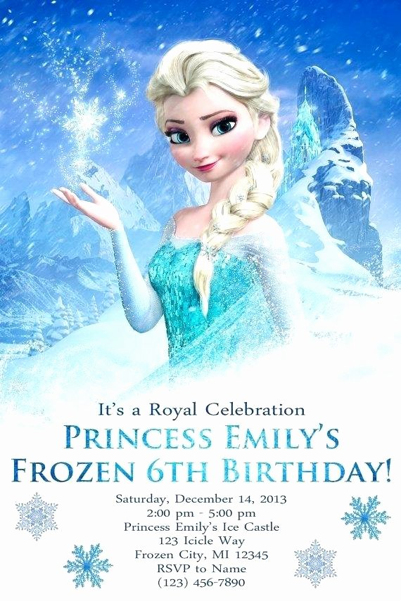 Frozen Birthday Card Template Invitation Party Free
