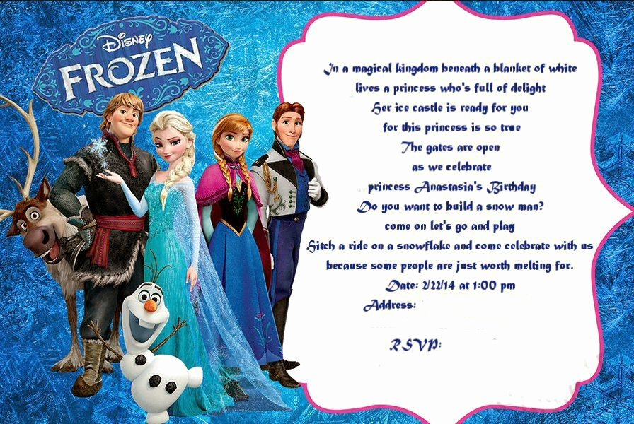 Frozen Birthday Invitation Ideas