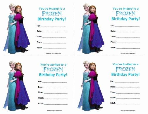 Frozen Birthday Invitations Free Printable