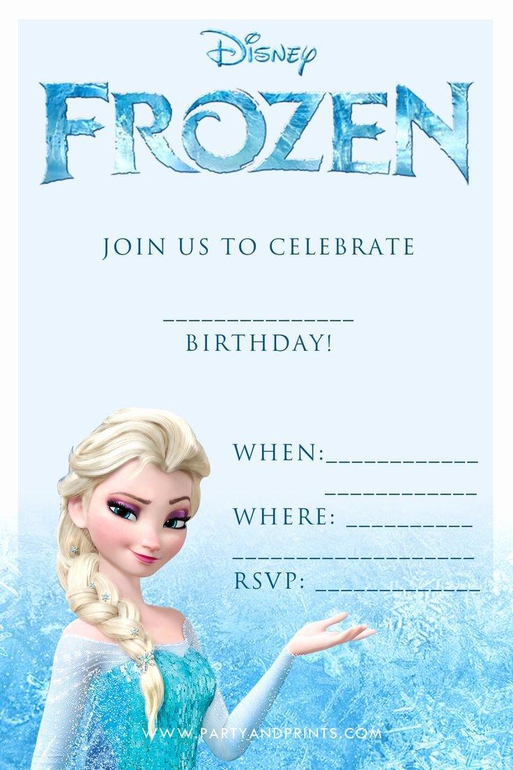 Frozen Birthday Party Invitations Printable Free Google