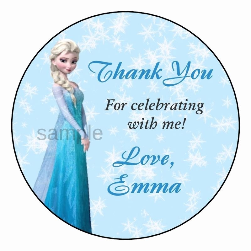 Frozen Elsa Birthday Party Favor Personalized Thank You
