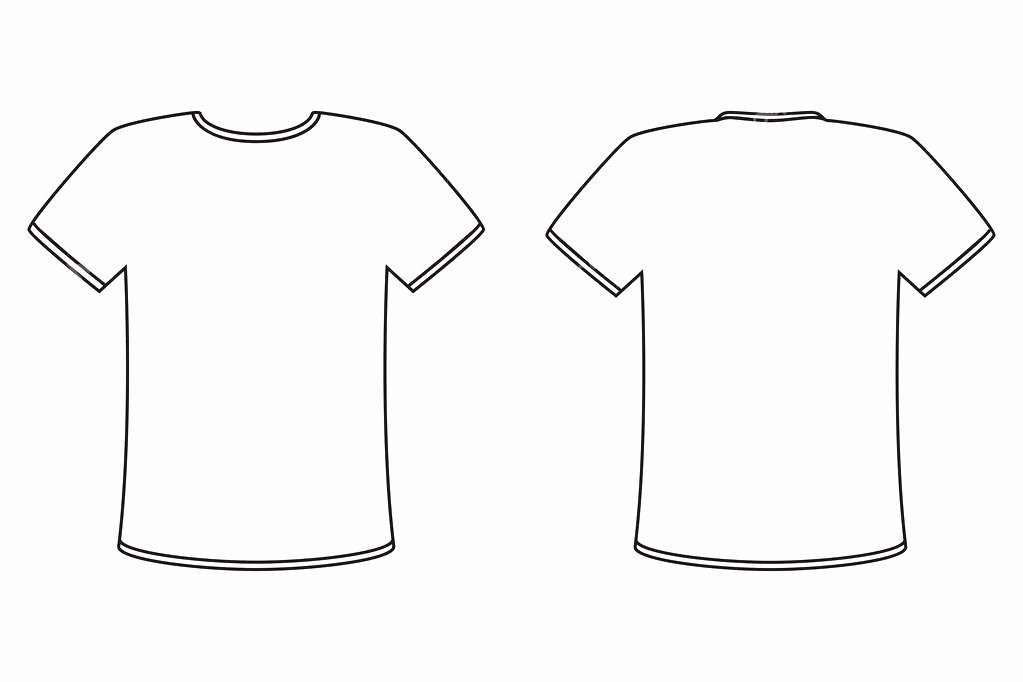 Full Size T Shirt Template Gallery Template Design Ideas