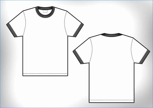 Full Size T Shirt Template Template Vector T Shirt