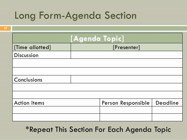 Fun Meeting Agenda Template