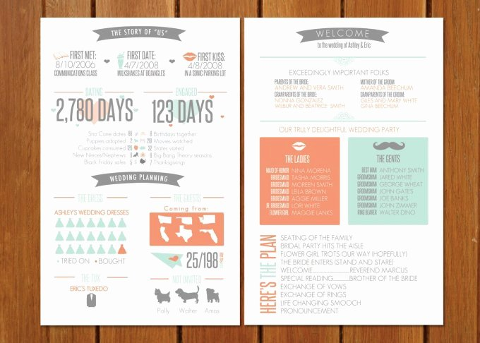 Fun Wedding Programs Guests Will Want to Read