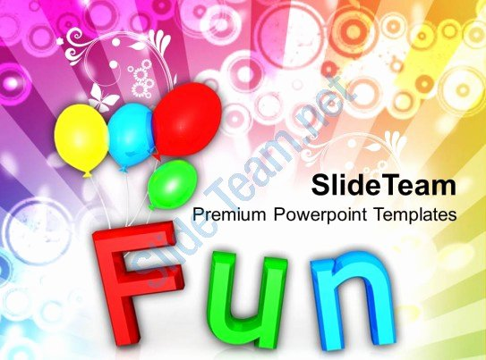 Fun with Colorful Balloons Holidays Powerpoint Templates