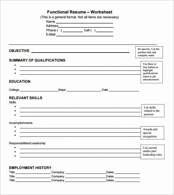Functional Cv Template 7 Download Documents In Pdf