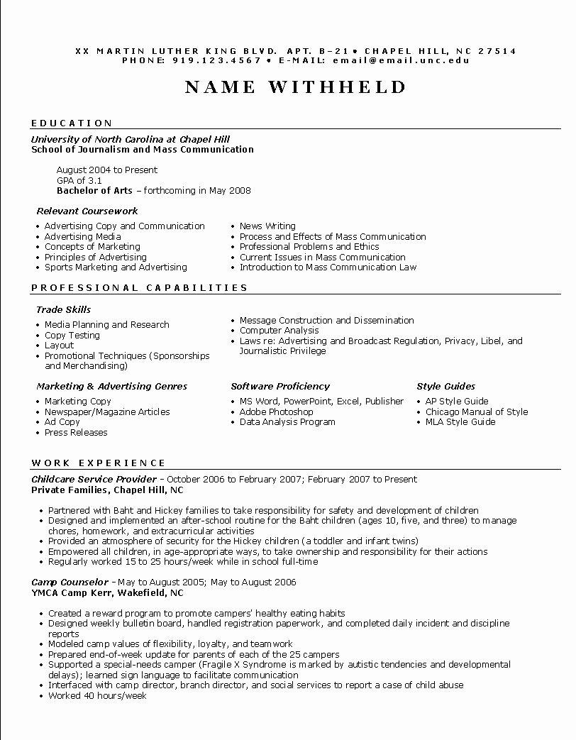 Functional Resume Example Resume format Help