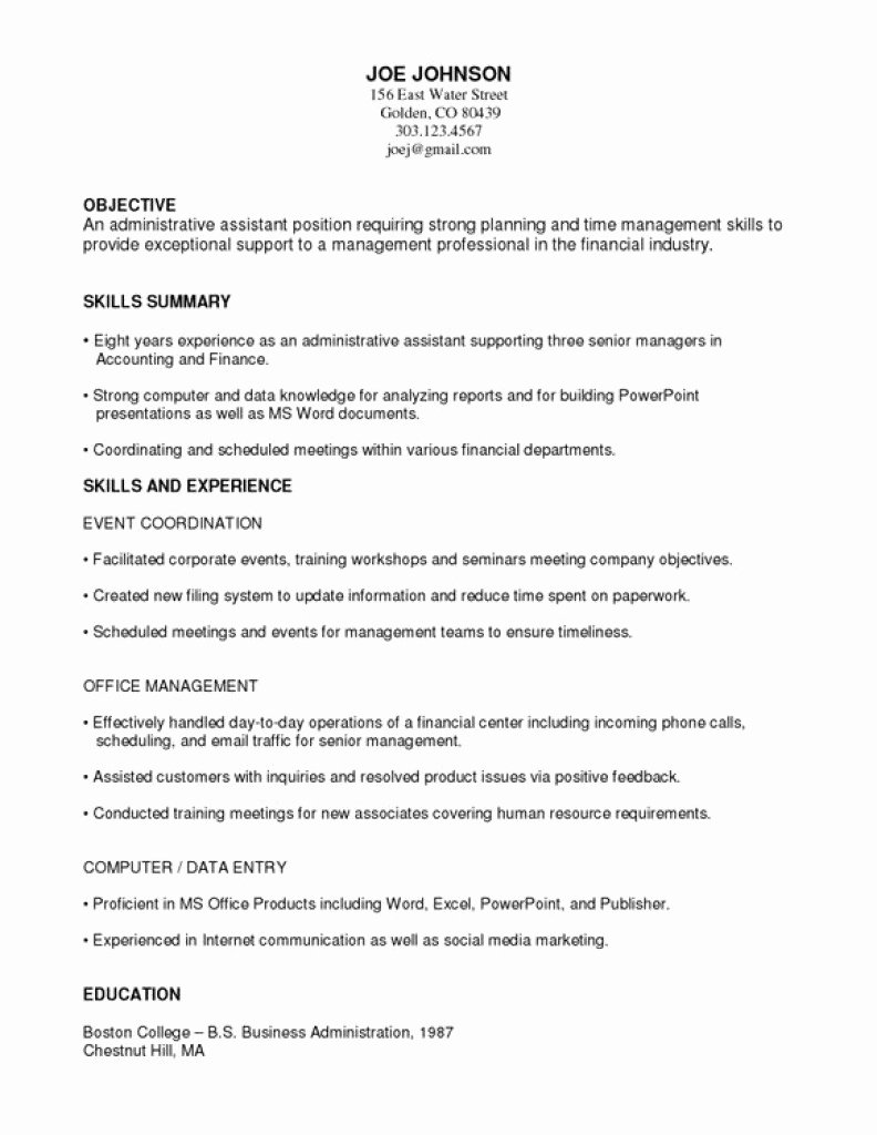 Functional Resume Examples Functional Resume Template 15