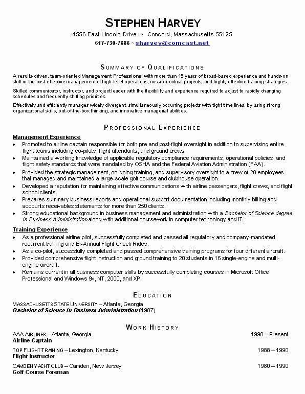 Functional Resume Sample
