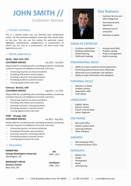 Functional Resume Template by Cvfolio Resumes