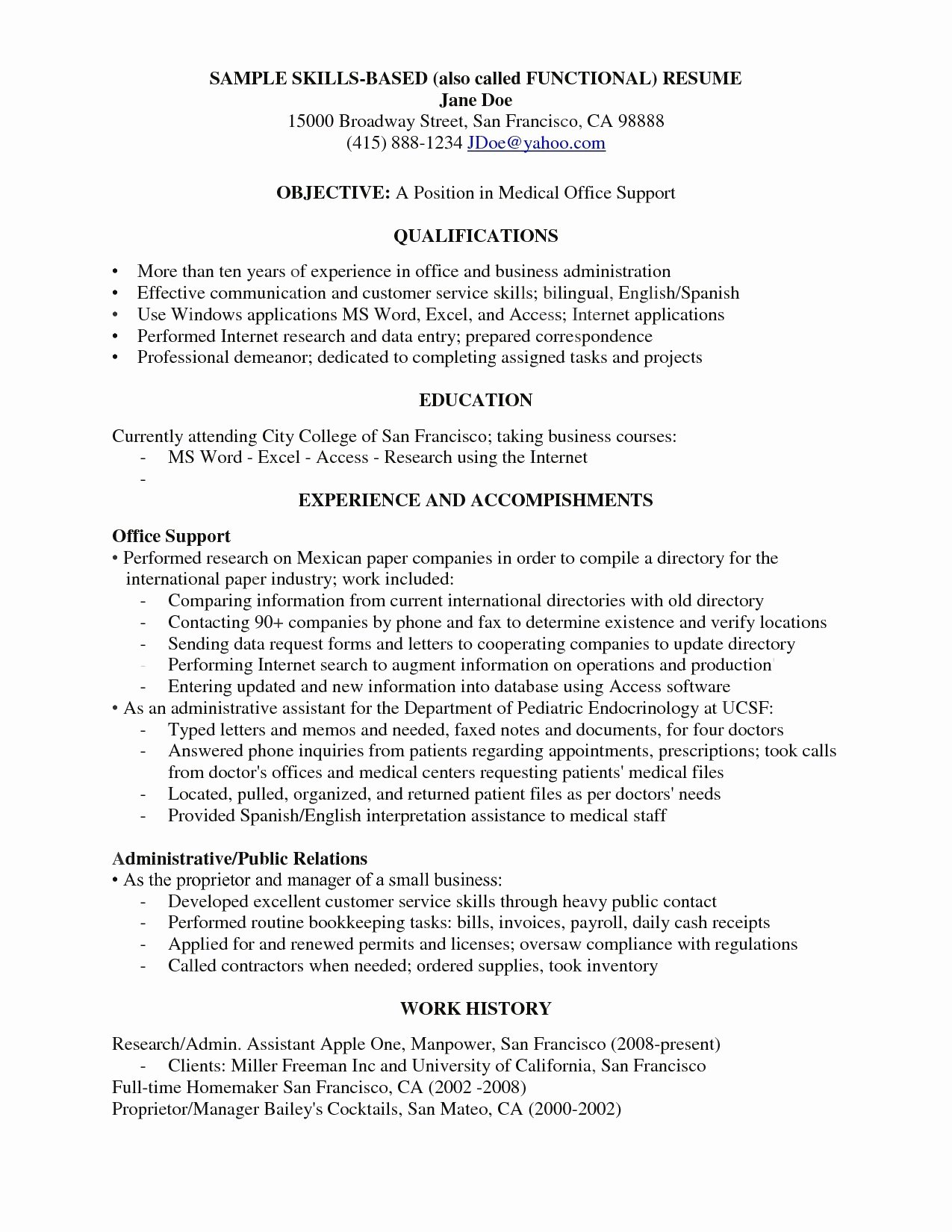 Functional Resume Template Examples Plete Guide Inside