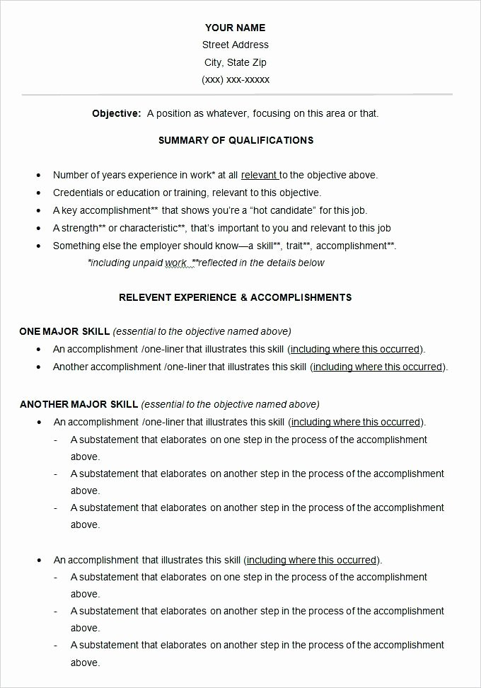 Functional Resume Template Free Download and Gallery