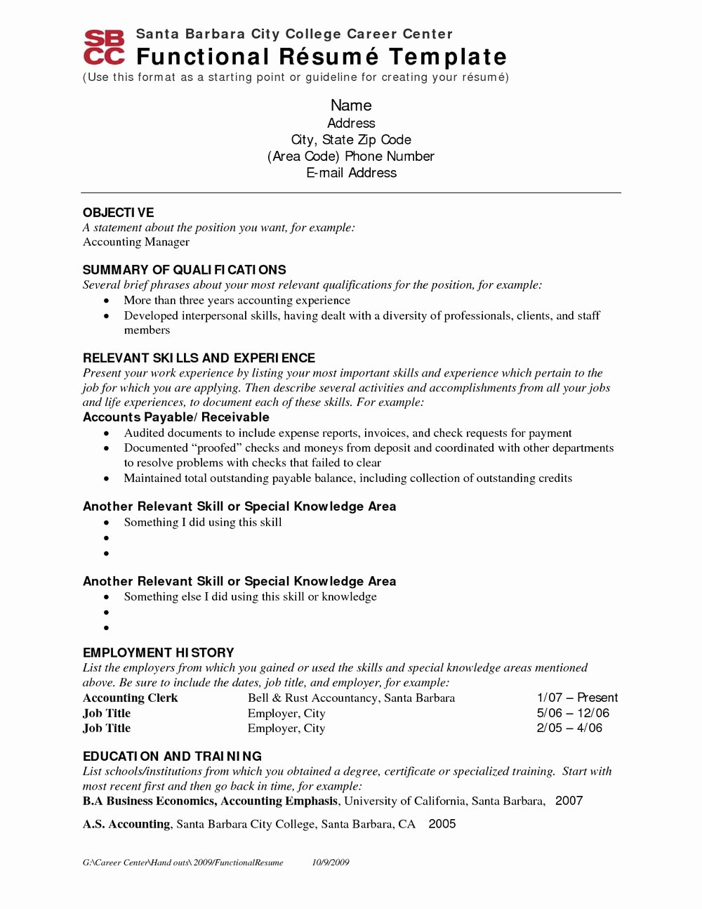 Functional Resume Template Free Download Resumes 297