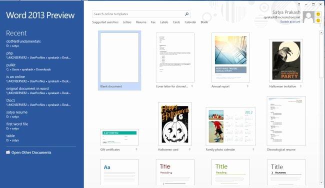 Functional Resume Template In Word 2013
