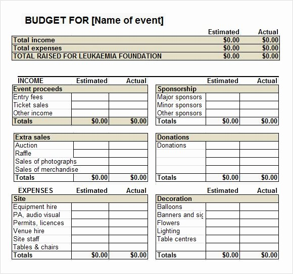 Fundraiser event Bud Template Work It