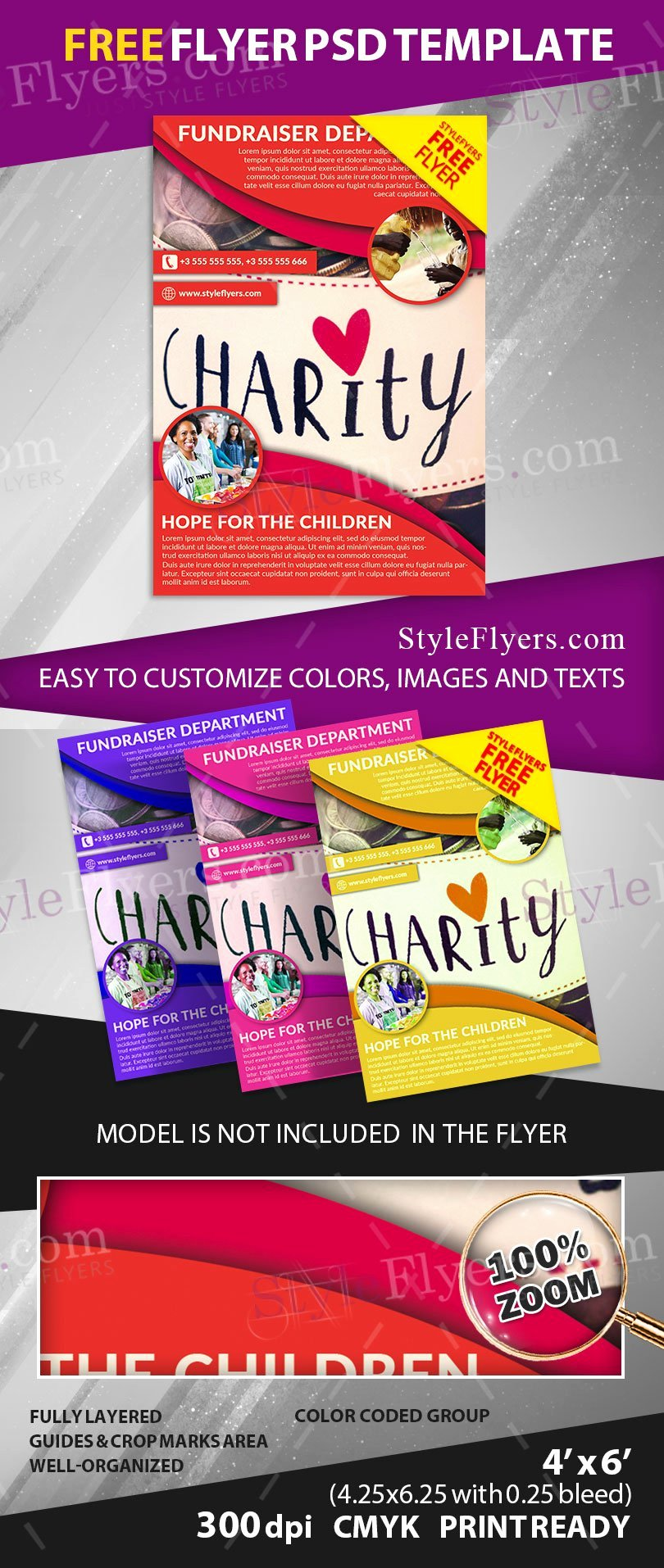 Fundraiser Free Psd Flyer Template Free Download