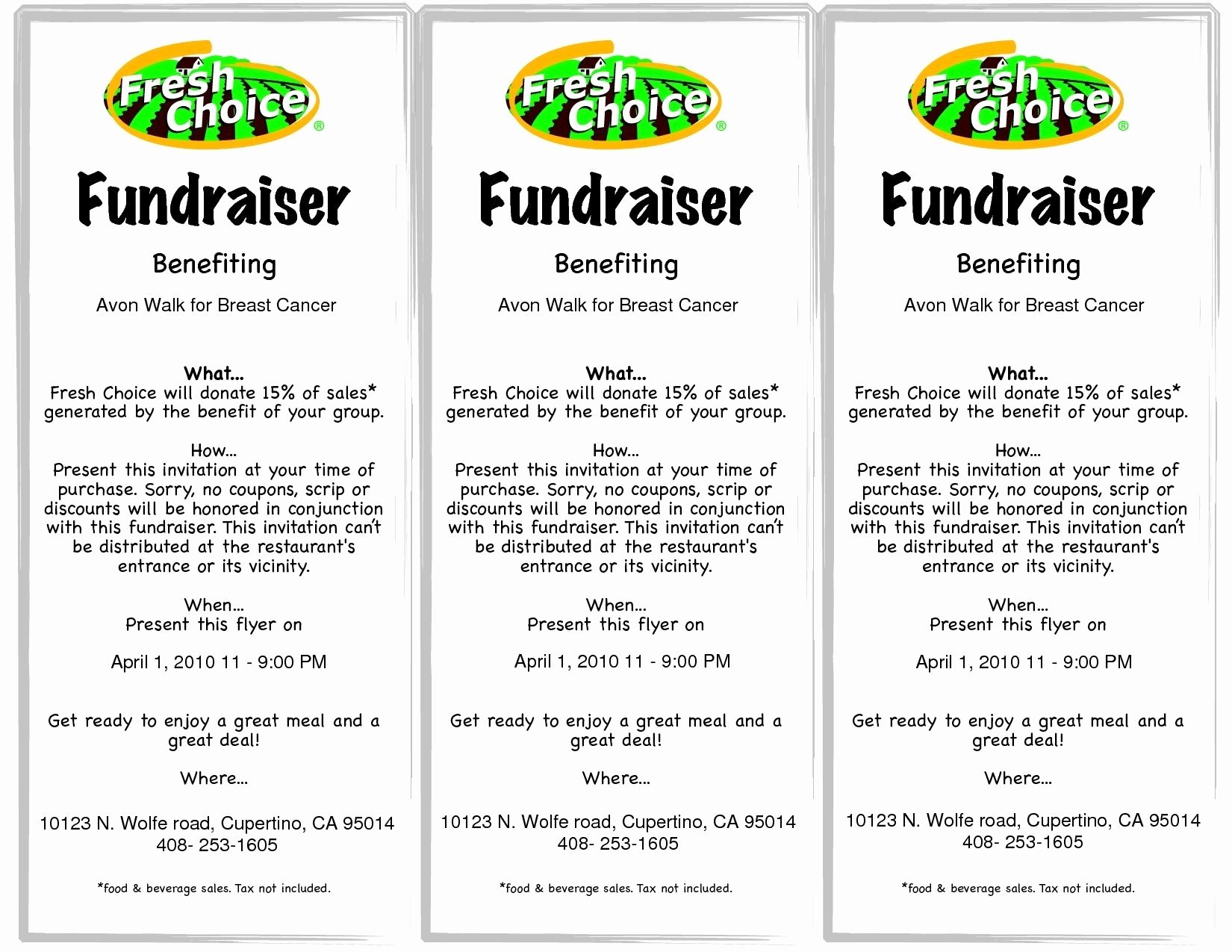 fundraising flyer template free used car sales invoice templ