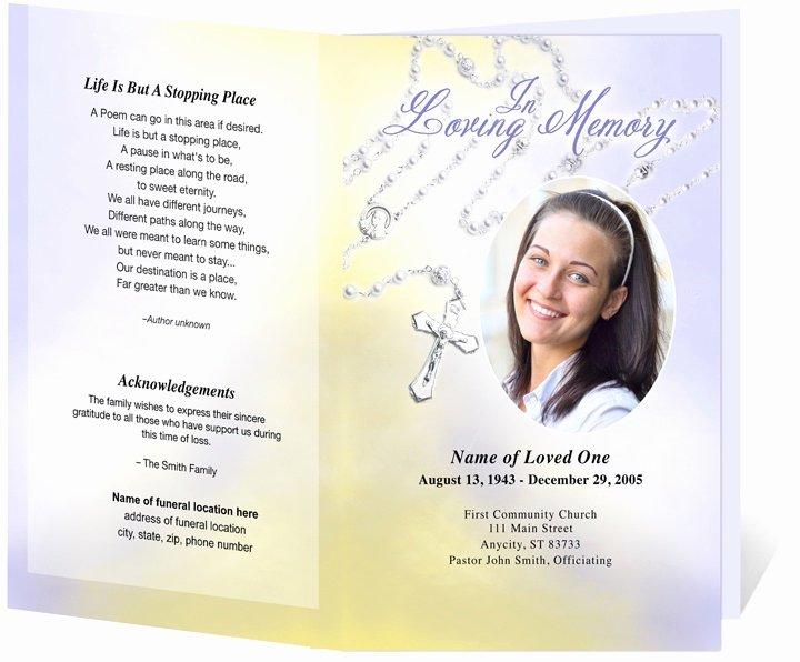 Funeral Brochure Template Microsoft Word Csoforumfo