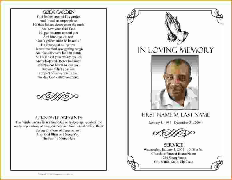Funeral Brochure Template Word Csoforumfo