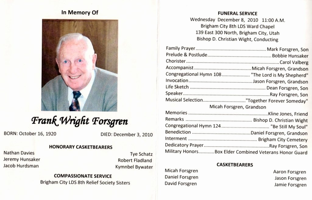 Funeral Brochure Template Word How to Make A Funeral