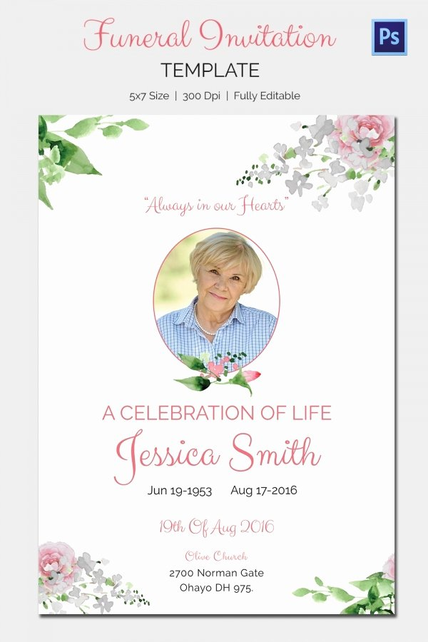 Funeral Invitation Template – 12 Free Psd Vector Eps Ai