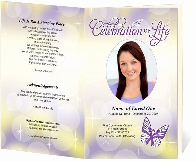Funeral Memorial order Of Service Programs Lupus