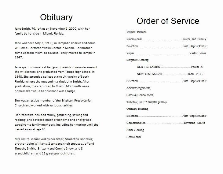 Funeral order Service Outline