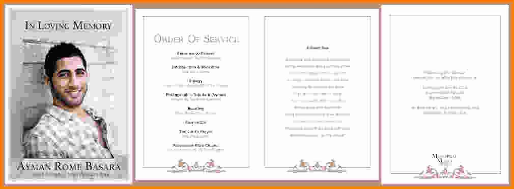Funeral order Service Template