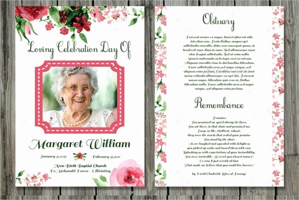 Funeral Prayer Cards Templates Free Download Aashe
