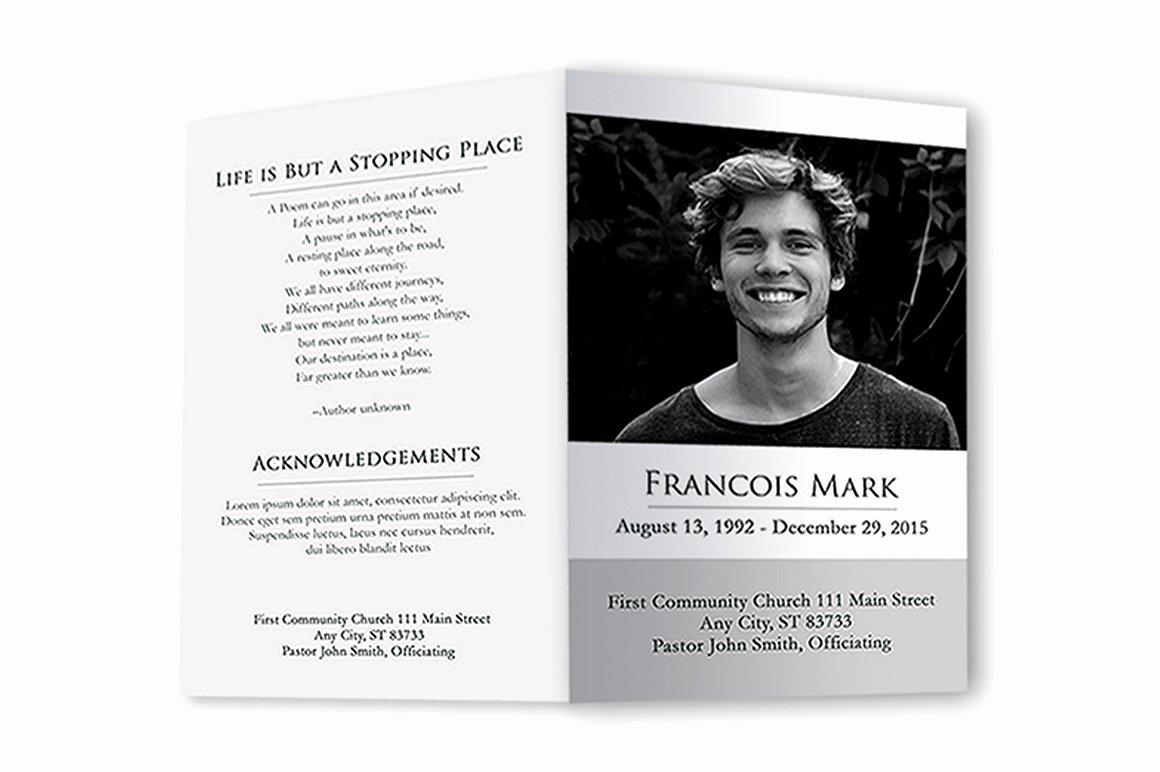 Funeral Program Black & White Brochure Templates