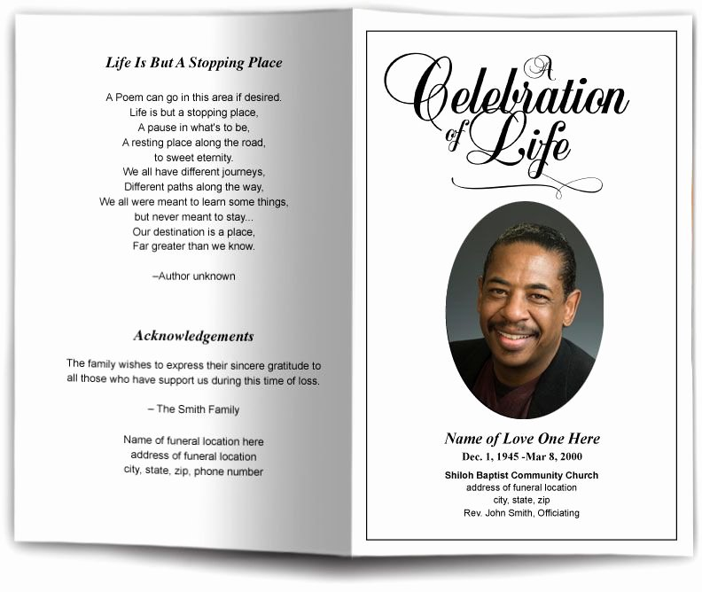 Funeral Program Obituary Templates