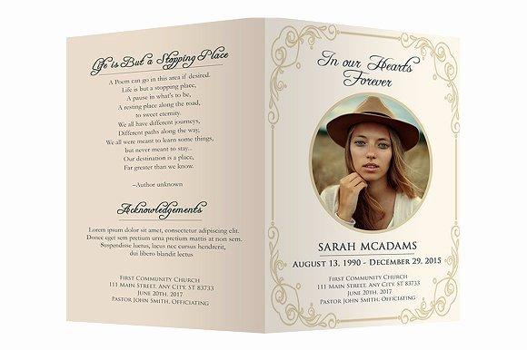 Funeral Program Template Brochure Templates Creative