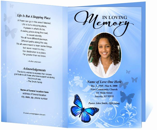 Funeral Program Template Funeral order Of Service