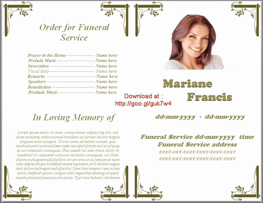 Funeral Program Template Indesign Awesome 46 Best Funeral