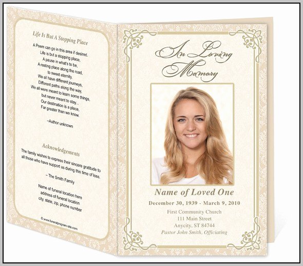 Funeral Program Template Shop Template Resume