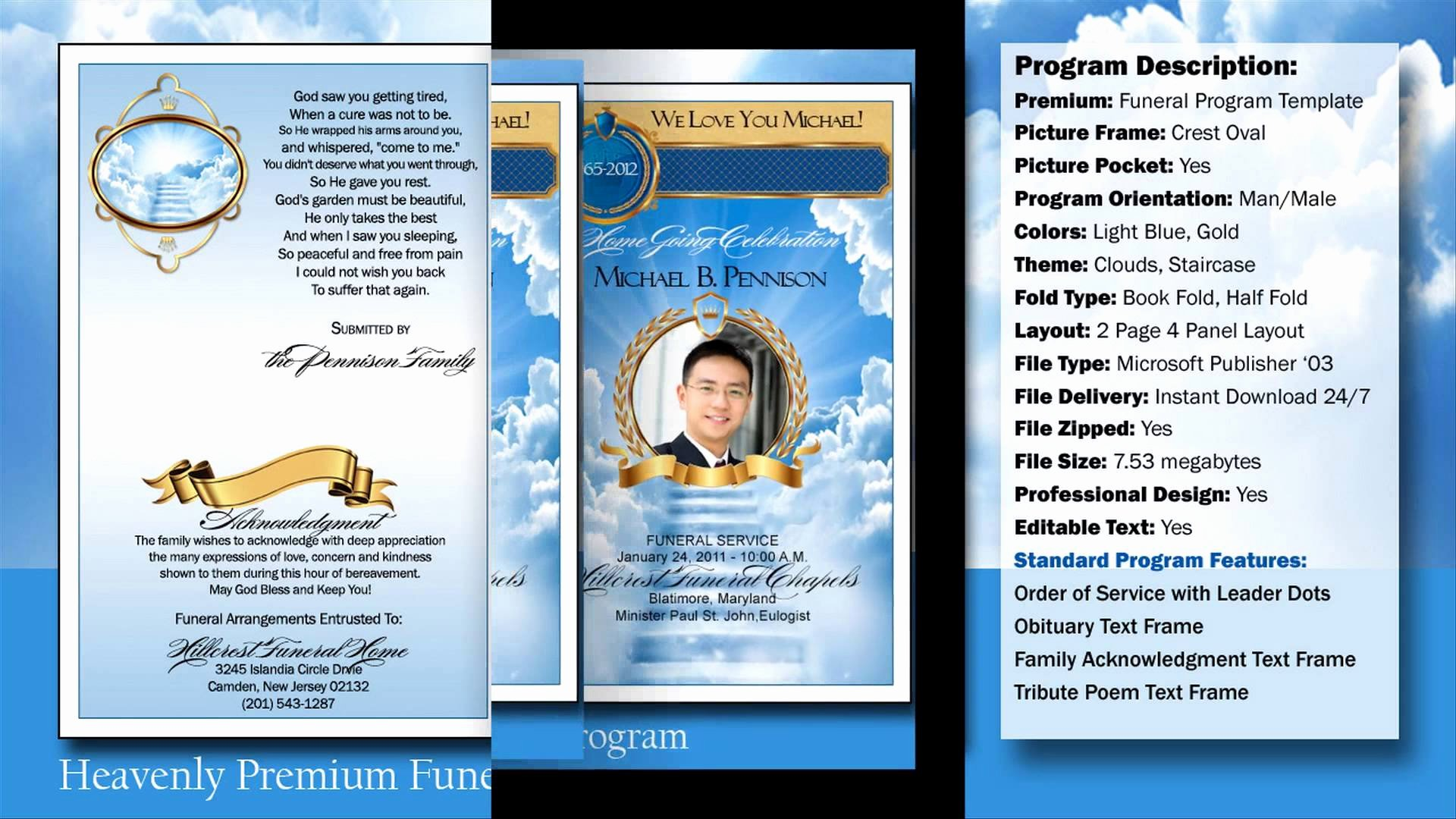 Funeral Program Templates Free Downloads