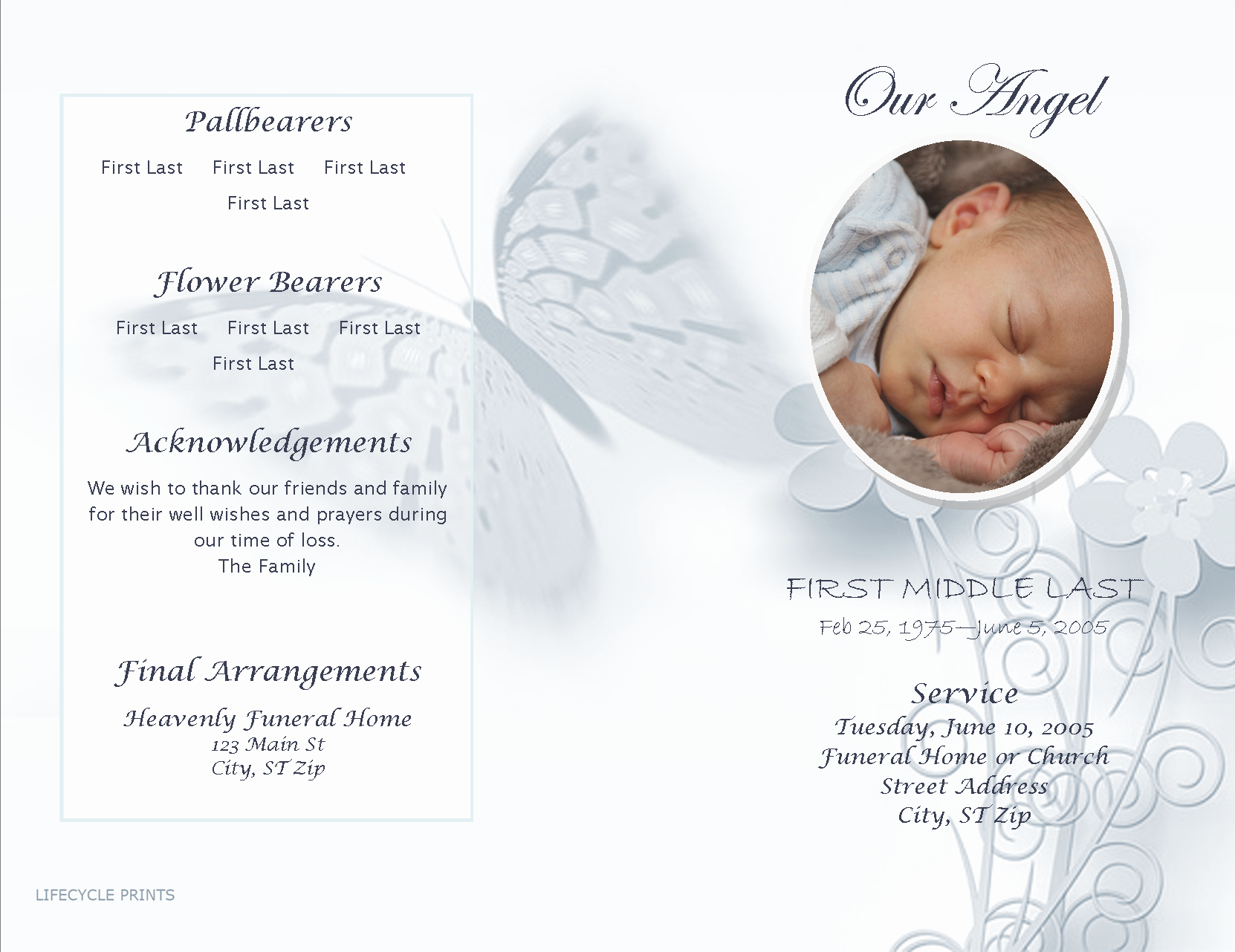 Funeral Program Templates Free Downloads