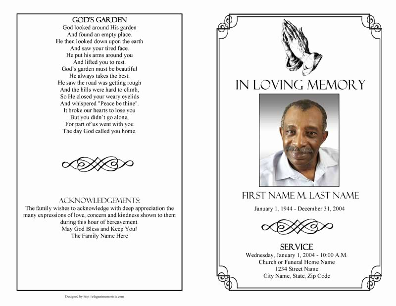 Funeral Program Templates Funeral Programs