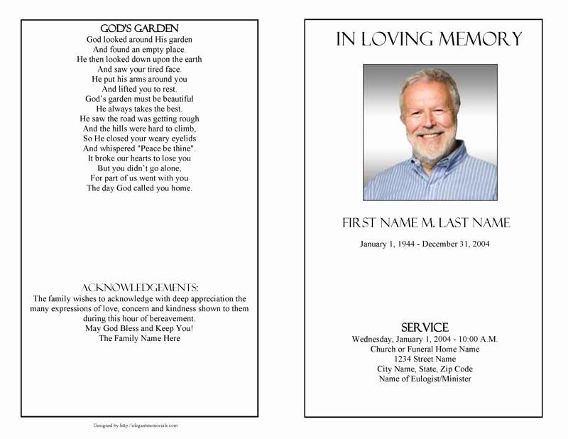 Funeral Program Templates Funeral Programs