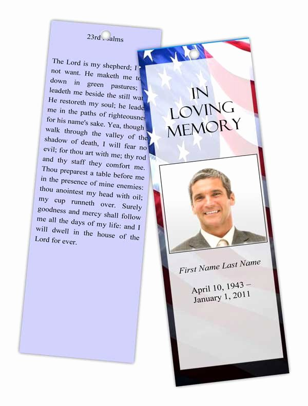 Funeral Program Templates Memorial Bookmark