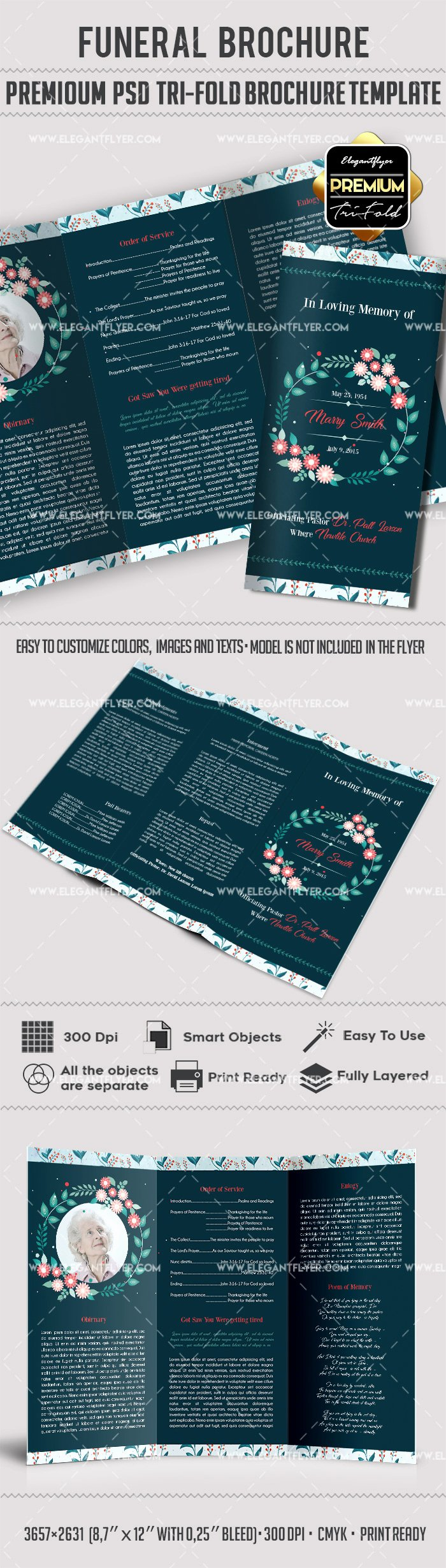 Funeral Wreath Designs Tri Fold Brochure – by Elegantflyer