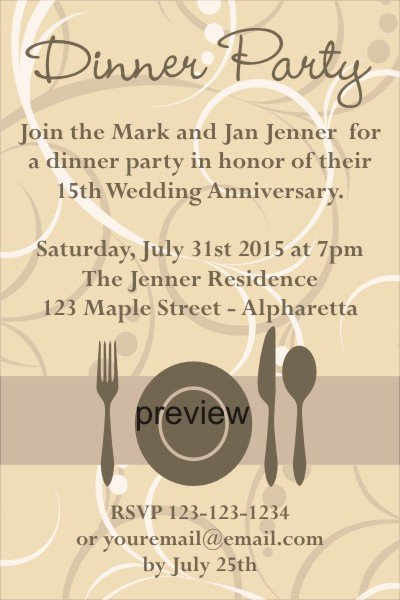 Funny Dinner Party Invitation Wording