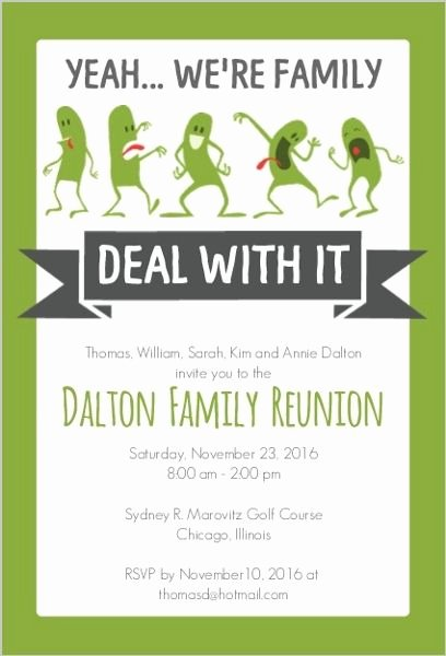 Funny Family Reunion Invitation … Family History