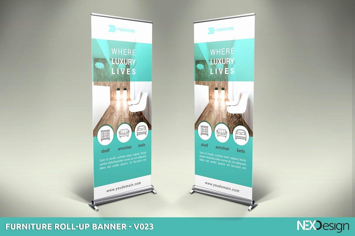 Furniture Roll Up Banner Sk Presentation Templates
