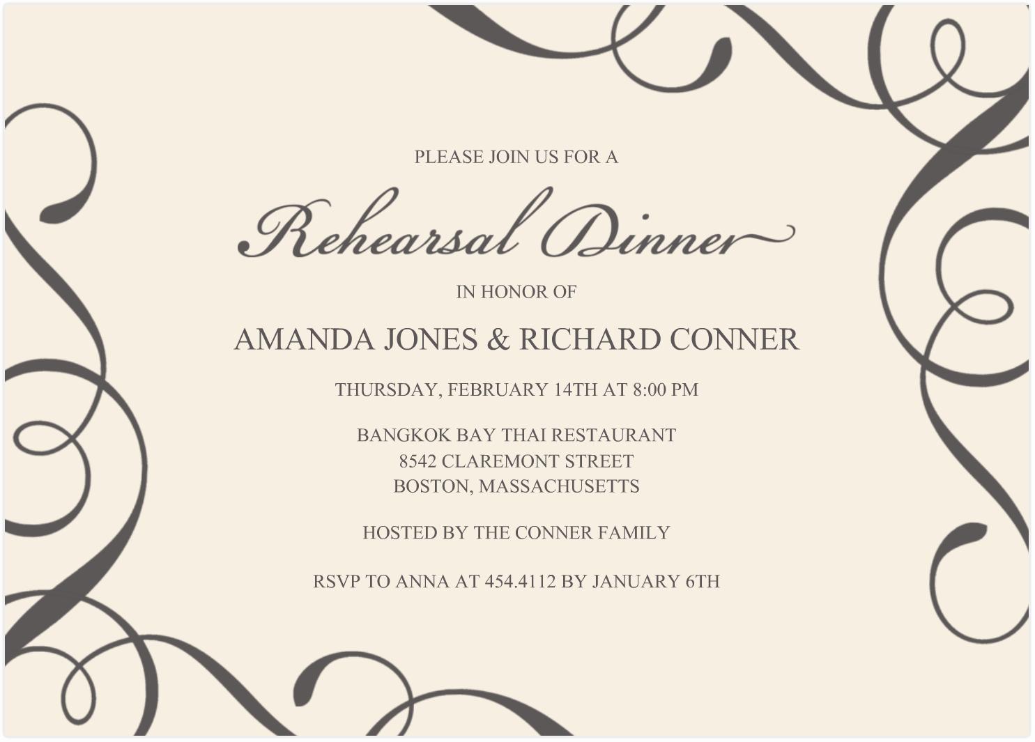 gala dinner invitation template