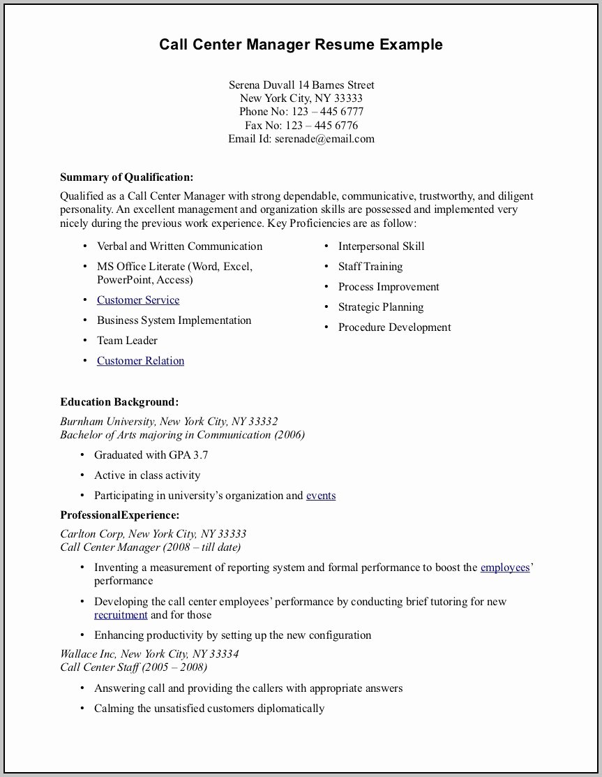 Gallery Of Resume Template for someone with No Work