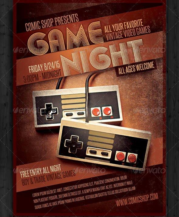 Game Night Flyer Template Yourweek Eca25e
