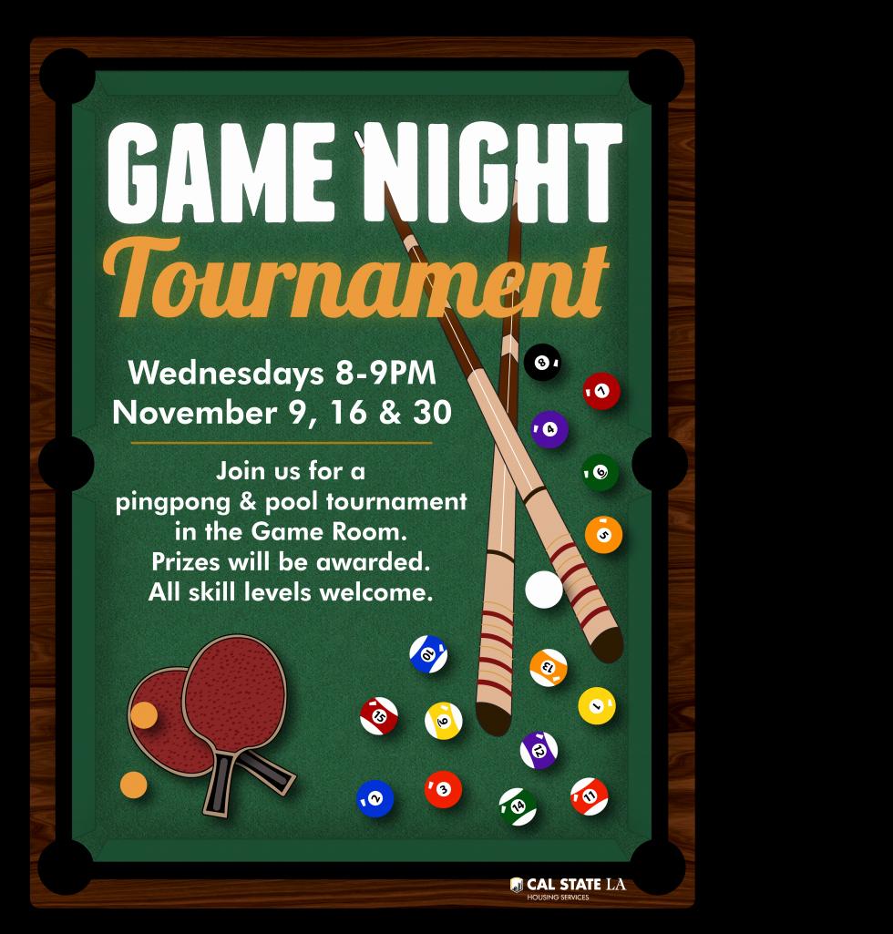 Game Night Pingpong & Pool tournament