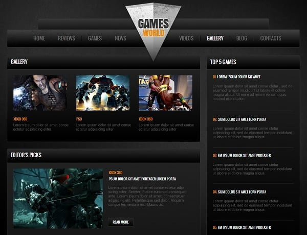Gaming Website Templates Pro Tips for Building A Gaming